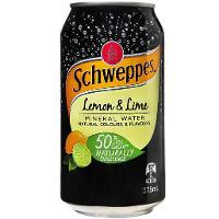 SCHWEPPES MINERAL WATER 375ml CAN LEMON LIME CTN24