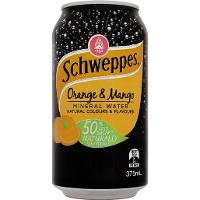 SCHWEPPES MINERAL WATER 375ml CAN ORANGE MANGO CTN24