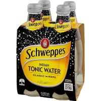 SCHWEPPES MIXER DRINK 300ml BOTTLE TONIC WATER BOX 24