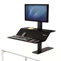 FELLOWES DESK RISER SIT STAND MONITOR & KEYBOARD RISER 1 SCREEN BLACK