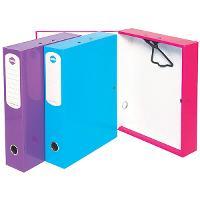 MARBIG HEAVY DUTY BOX FILE A4 75mm  BLUE SUMMER COLOUR