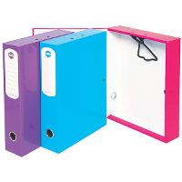 MARBIG HEAVY DUTY BOX FILE A4 75mm  PINK SUMMER COLOUR