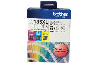 BROTHER LC135XLCL INK CARTRIDGE C/M/Y VALUE PACK PKT3
