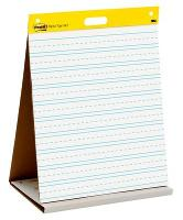 3M 563-PRL POST-IT PAD SUPER STICKY PRIMARY RULED  WHITE