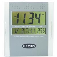 CARVEN CLOCK SQUARE DIGITAL