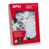 APLI 387 STRUNG TICKETS 13X20MM WHITE BOX 1000 521082