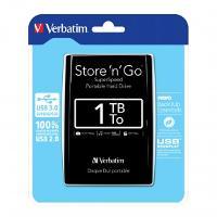 VERBATIM EXTERNAL HARD DRIVE USB2.5 PORTABLE 1TB MEMORY