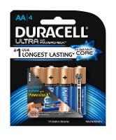 DURACELL ULTRA  AA BATTERY PACK 4