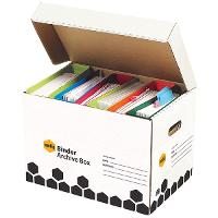 MARBIG BINDER BOX 800500R SUPER STRONG BOX FITS 6 LEVERARCH FILES