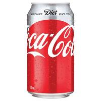 DIET COKE COCA COLA 375ML CANS BOX 24