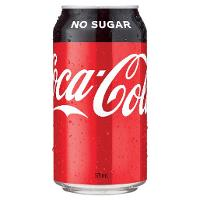 COCA COLA COKE ZERO NO SUGAR 375ML CAN BOX 24