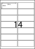 REDIFORM LABELS A4/14C 98X38MM 14 SHEET BX100