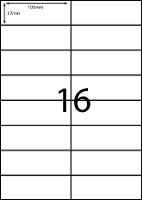 REDIFORM LABELS A4/16C 105X37MM 16 SHEET BX100