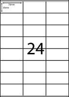 REDIFORM LABELS A4/24C 70X36MM 24 SHEET BX100