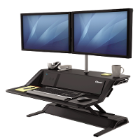 FELLOWES SIT STAND WORK STATION LOTUS DX BLACK 660322