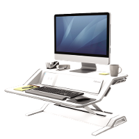 FELLOWES SIT STAND WORK STATION LOTUS DX WHITE 660324