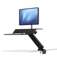 FELLOWES SIT STAND WORK STATION LOTUS RT SINGLE MONITOR BLACK