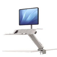 FELLOWES SIT STAND WORK STATION LOTUS RT SINGLE MONITOR WHITE
