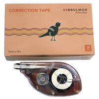 BIBBULMUN CORRECTION TAPE 5mm X 8m WHITE ** 686868