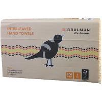 BIBBULMUN PAPER HAND TOWEL ULTRASLIM INTERLEAVED 23x23.5cm BOX2400 1213713