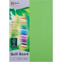 CARDBOARD QUILL A4 210GSM LIME PK50