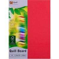 CARDBOARD QUILL A4 210GSM RED PK50