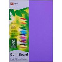 CARDBOARD QUILL A4 210GSM LILAC PK50