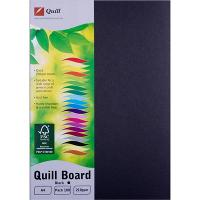 CARDBOARD QUILL A4 210GSM BLACK PK100