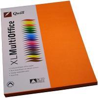 COPY PAPER QUILL A4 80GSM ORANGE PK100