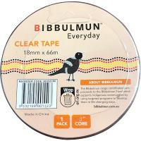 BIBBULMUN OFFICE STICKY TAPE 18mmx66m CLEAR