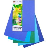 COPY PAPER QUILL A4 80GSM ASSORTED COLD COLOURS PK100