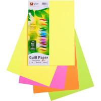 COPY PAPER QUILL A4 80GSM ASSORTED FLUORO COLOURS PK100