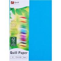 COPY PAPER QUILL A4 80GSM MARINE BLUE REAM