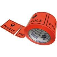 FRAGILE PERFORATED LABEL TAPE  75x100m