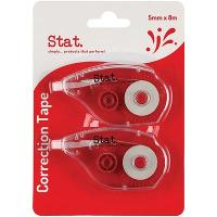 STAT CORRECTION TAPE 5MMX8M PACK 2