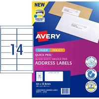 AVERY L7163-10 INTERNET ADDRESS LABELS 14/S 99.1X38.1MM