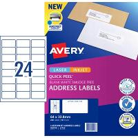 AVERY L7159-10 INTERNET ADDRESS LABELS 24/S 64X33.8MM