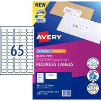AVERY L7651-10 INTERNET ADDRESS LABELS 65/S 38.1X21.2MM