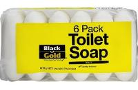 BLACK AND GOLD HAND SOAP BAR  PKT6