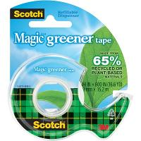 SCOTCH MAGIC TAPE DISPENSER 123 GREENER 19mm X 15.2m DISPENSER