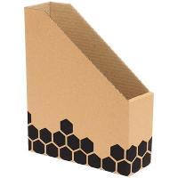 MARBIG ENVIRO MAGAZINE BOX MERKUR 230x75x300mm WOODGRAIN