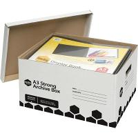 MARBIG ARCHIVE BOX A3 WHITE 100% RECYCLED
