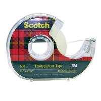 SCOTCH 600 TRANSPARENT TAPE WITH DISPENSER 19mm X 33M