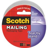 SCOTCH 3842 PACKAGING TAPE TEAR BY HAND CLEAR 48mmx35mt