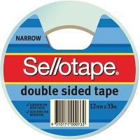 SELLOTAPE DOUBLE SIDED TAPE 12mmx33m 404