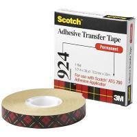 SCOTCH 924 ADHESIVE TRANSFER TAPE 12.7x32.9mt