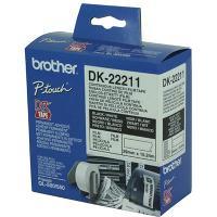 BROTHER DK-22211 LABEL ROLLS WHITE FILM 29mmx15.24mt