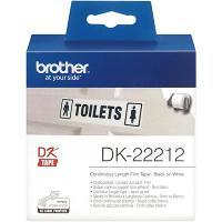 BROTHER DK-22212 LABEL ROLLS WHITE FILM ROLL 62mmx15.24mt
