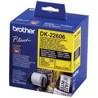 BROTHER DK-22606 LABEL ROLLS YELLOW FILM 62mmx15.24mt