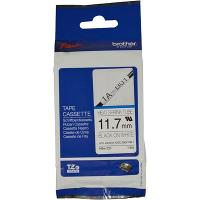 BROTHER HSE-231 SHRINK TUBE 11.7mm BLACK ON WHITE COMPATIBLE WITH PT-E300VP